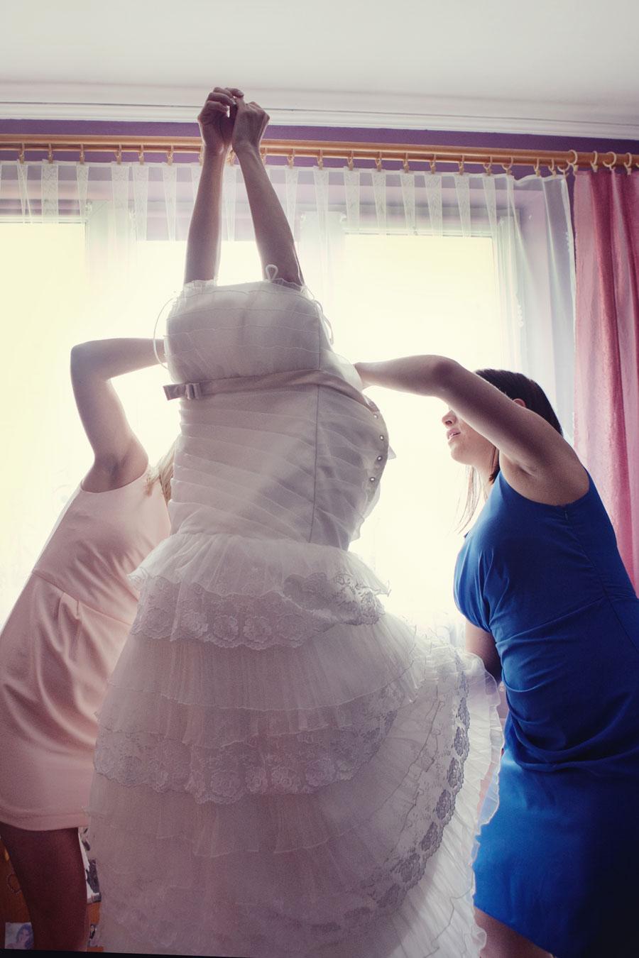 przygotowania panny młodej w zaklikowie