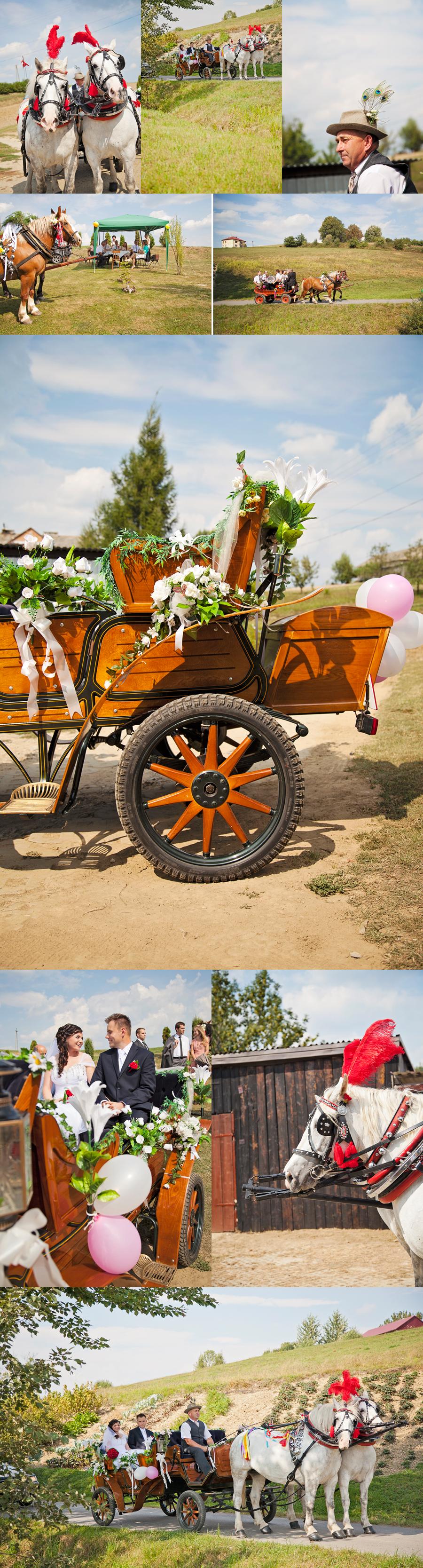 bryczki na ślubie