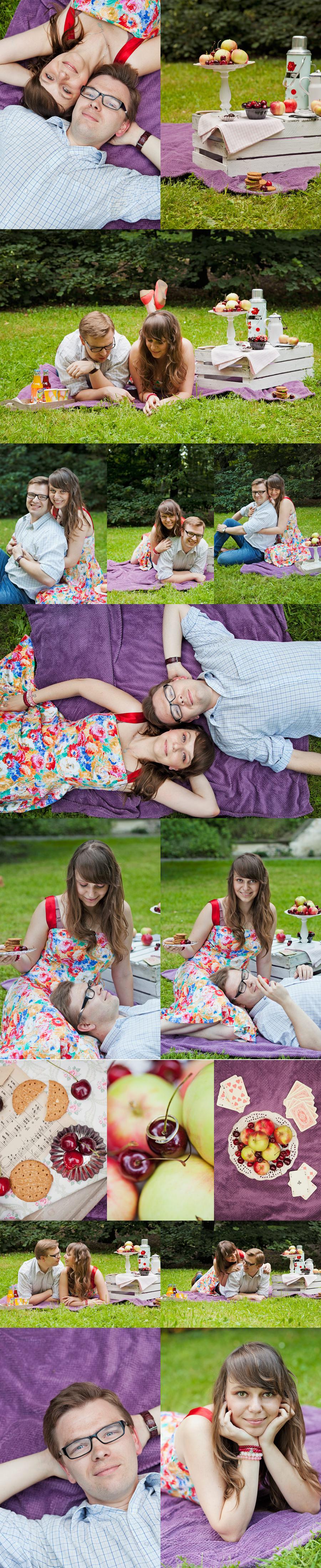 piknikowa fofo sesjsja narzeczeńcka