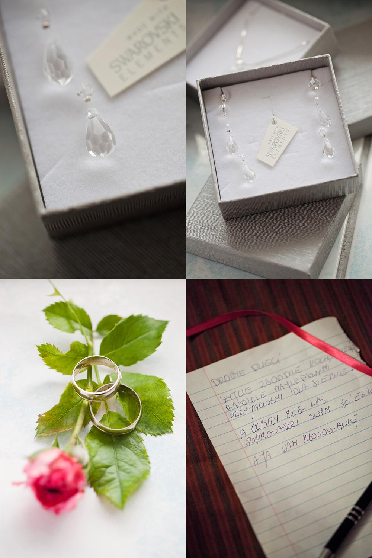 zdjęcia ślubne detale ślubne