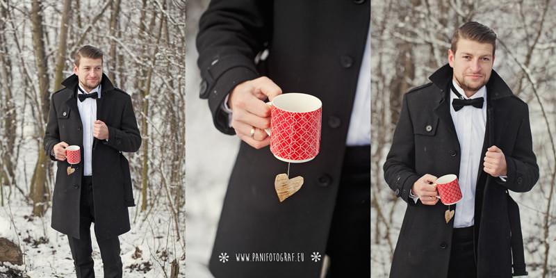 zimowy ślub plener w Głogowie