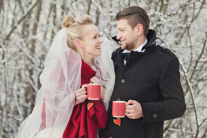 plener ślubny zima głogów