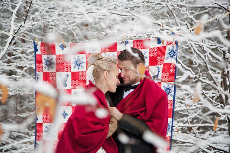 pani fotograf zimowy plener ślubny