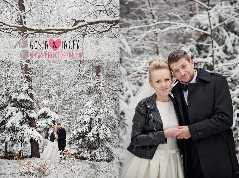 plener ślubny zimą pani fotograf