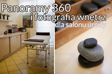 fotografia reklamowa wnętrz i wirtualna wycieczka po salonie masażu