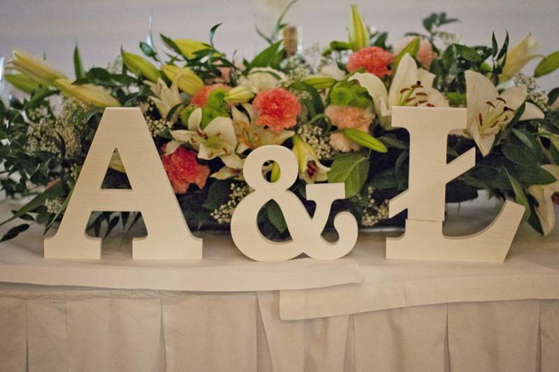 inicjały na ślub literki