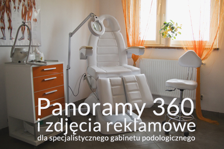 panorama 360 gabinetu podologicznego