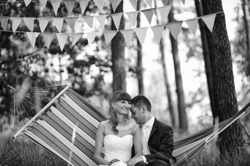 plener ślubny na hamaku