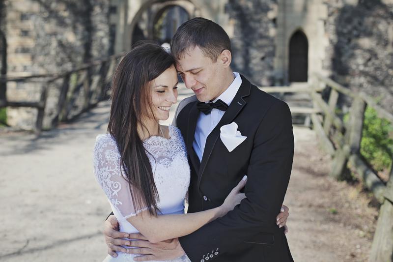 zamek Grodziec sesja ślubna