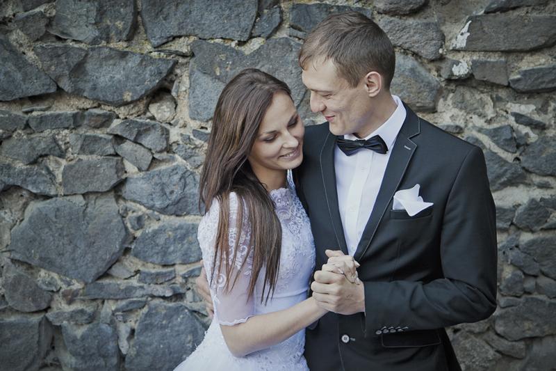 plener ślubny w zamku Grodziec